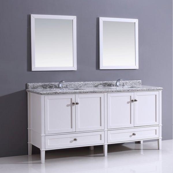 castlemore 72 inch white bathroom vanity with giallo white