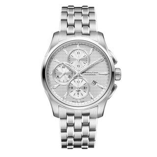 Hamilton Men's 'Jazzmaster' Automatic Chronograph Stainless Steel Watch