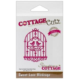 """CottageCutz Elites Die 2.2""""X3.1""""-Sweet Love Birdcage"""