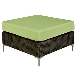 angelo:HOME Napa Springs Bamboo Green Ottoman/Table Indoor/Outdoor Resin Wicker