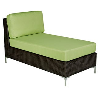 angelo:HOME Napa Springs Bamboo Green Armless Chaise Indoor/Outdoor Resin Wicker