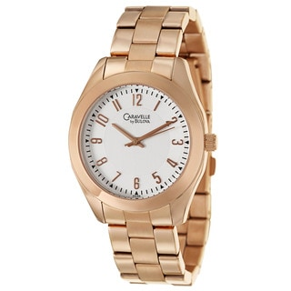 Caravelle by Bulova Women's 'Dress' Rose Goldplated Stainless Steel Watch
