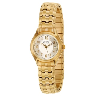 Caravelle by Bulova Women's 'Dress' Yellow Gold Plated Stainless Steel Japanese Quartz Watch