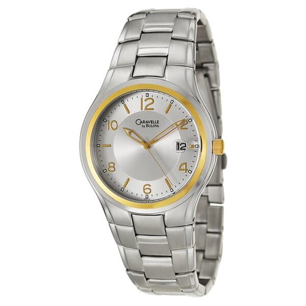 Caravelle by Bulova Men's 'Dress' Yellow Gold Plated Stainless Steel Japanese Quartz Watch