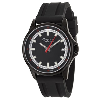Caravelle by Bulova Men's 'Sport' Black Stainless Steel Japanese Quartz Watch