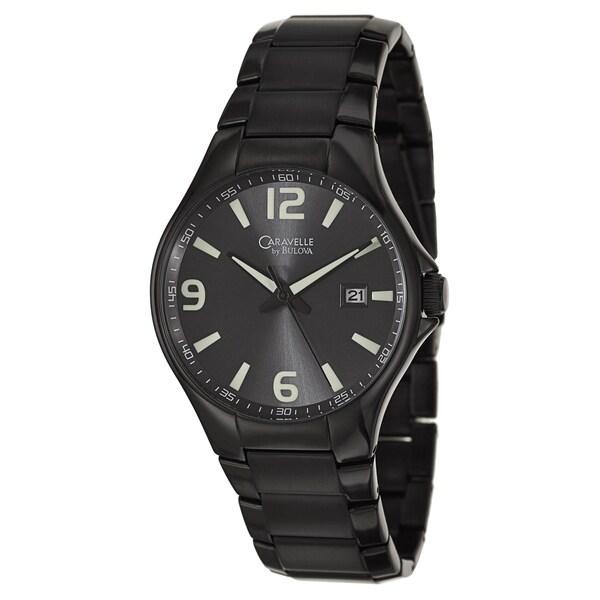 Caravelle by Bulova Men's 45B119 'Sport' Black Stainless Steel Japanese Quartz Watch