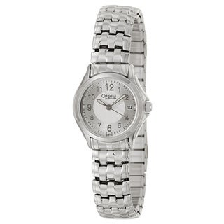 Caravelle by Bulova Women's 'Dress' Stainless Steel Silvertone Dial Japanese Quartz Watch