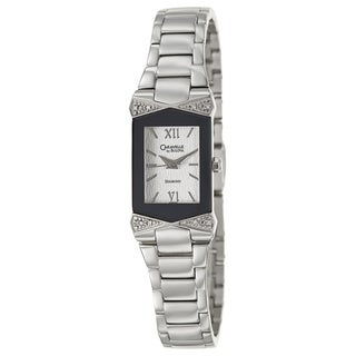 Caravelle by Bulova Women's 'Diamond' Stainless Steel Japanese Quartz Watch