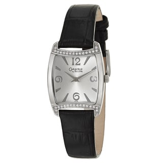 Caravelle by Bulova Women's 'Crystal' Stainless Steel Square Bezel Quartz Watch