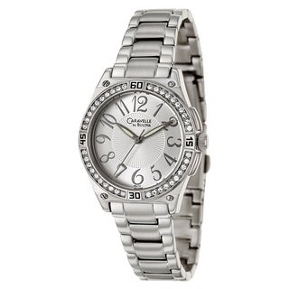 Caravelle by Bulova Women's 'Crystal' Silvertone Stainless Steel Watch