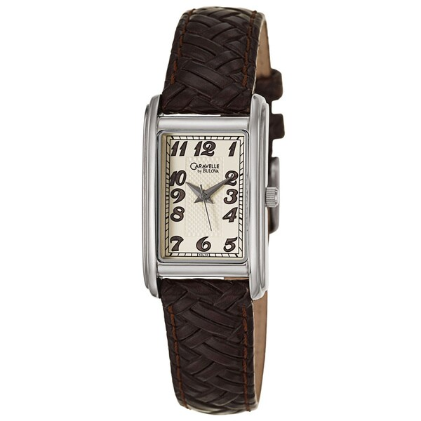 Caravelle by Bulova Women's 43L114 'Dress' Stainless Steel Brown Strap Watch
