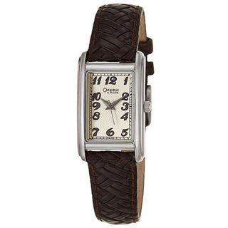 Caravelle by Bulova Women's 'Dress' Stainless Steel Brown Strap Watch