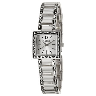 Caravelle by Bulova Women's 'Dress' Stainless Steel Square Bezel Watch