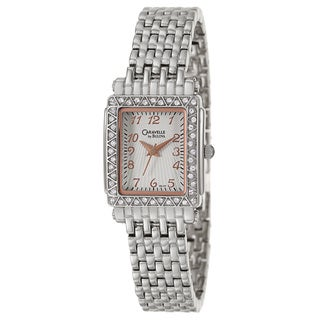Caravelle by Bulova Women's 'Crystal' Stainless Steel Rose Goldtone Japanese Quartz Watch