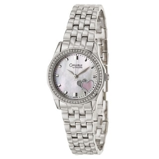 Caravelle by Bulova Women's 'Crystal' Stainless Steel Japanese Quartz Watch