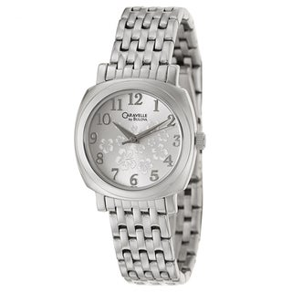 Caravelle by Bulova Women's 'Dress' Stainless Steel White Flower Dial Watch