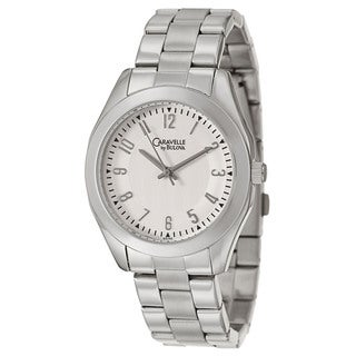 Caravelle by Bulova Women's 'Dress' Stainless Steel White Dial Japanese Quartz Watch
