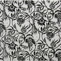 Black and White Leaves and Flowers Ceramic Wall Tiles (Pack of 20) (Samples Available)