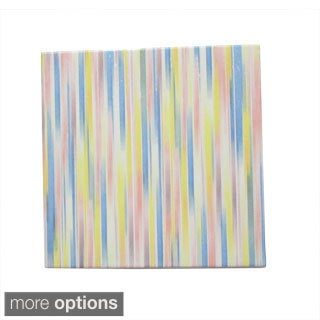 Ceramic Wall Tile Multicolored Stripes Pattern (Pack of 20)