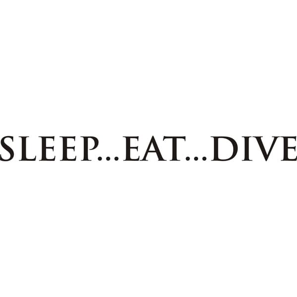 Design on Style Sleep...Eat...Dive' Black Vinyl Art Applique Quote