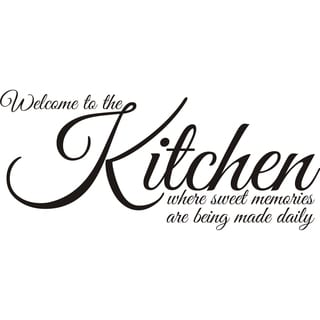 'Welcome to the Kitchen Where Sweet Memories Are Being Made' Vinyl Art Quote