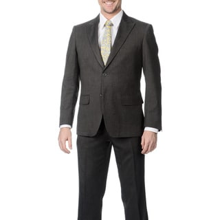 Buffalo Men's Grey Single Breasted Notch Lapel Suit