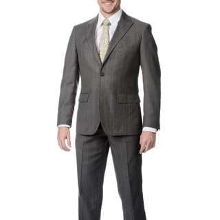 Buffalo Men's Light Grey Single Breasted Notch Lapel Suit