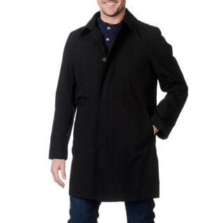 Nautica Men's Black Hooded Raincoat with Vest