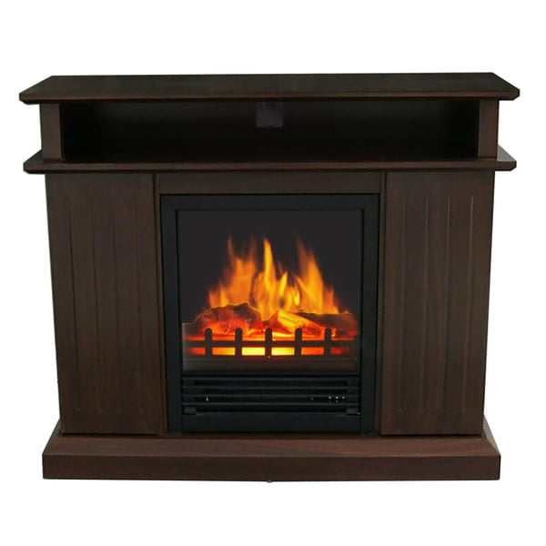 Melrose Dark Cherry Multi Media Electric Fireplace 16055284 Shopping Great