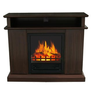 Melrose Dark Cherry Multi-Media Electric Fireplace