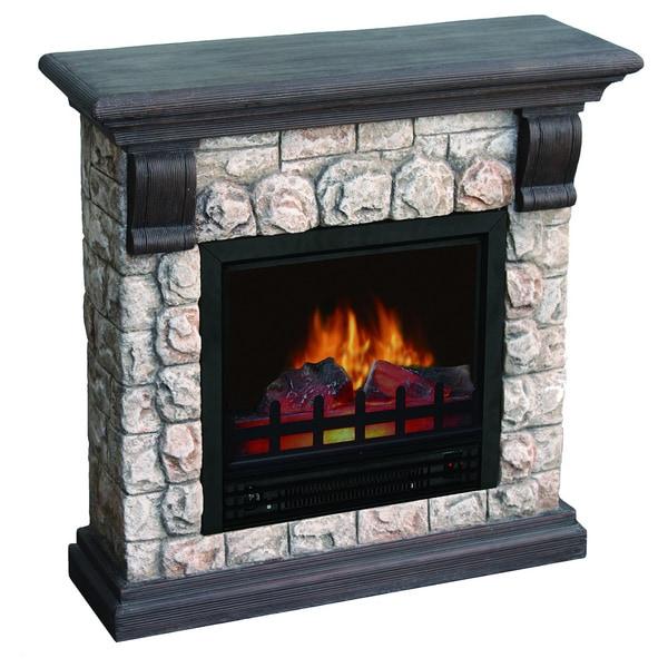 Dublin Polystone Electric Fireplace 16055285 Overstock