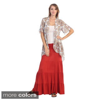 Women's Layered Maxi Skirt
