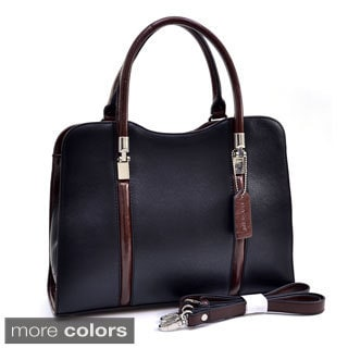 Dasein Dual Stripe Two-tone Satchel