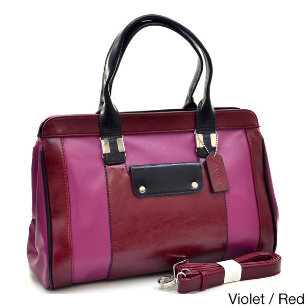 Dasein Two-tone Sharp Top Handle Satchel