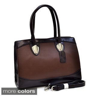 Dasein Two-tone Silvertone Hardware Shoulder Bag