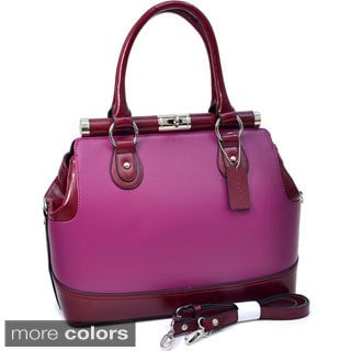 Dasein 'Precious' Two-tone Dome Satchel