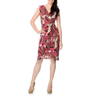 London Times Women's Side Drape Dress