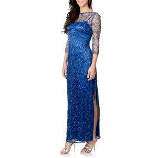 Cachet Women's Sequins Lace Gown