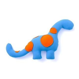 Superflykids 'Mr Roarington Jr.' Blue/ Orange Small Plush Dino Toy