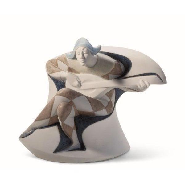 Lladro Harlequin Porcelain Figure