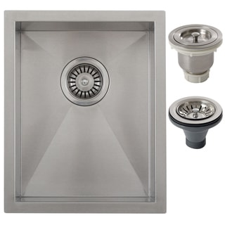 Ticor 14-inch Single Bowl Stainless Steel Undermount Bar Sink