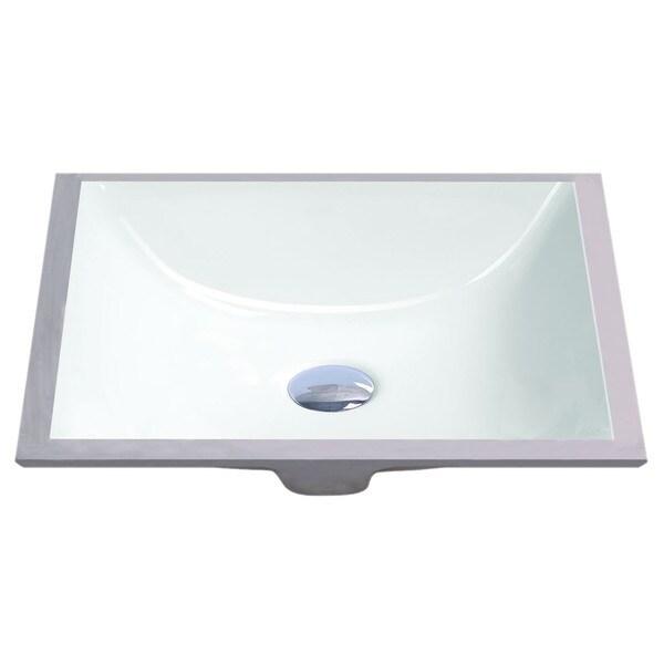 Geyser White Vitreous Porcelain Undermount Bathroom Sink (16 x 11 inches)
