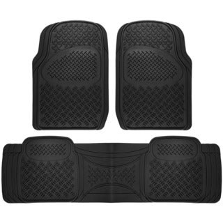 Diamond Rugged 3-piece All Weather Rubber Floor Mat Set