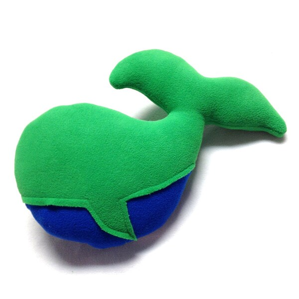 Superflykids 'Humphrey' Green/ Blue Small Plush Whale Toy