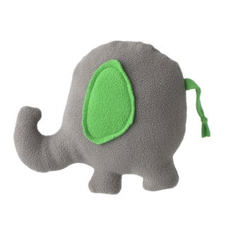 Superflykids 'Peanut' Grey/ Green Small Plush Elephant Toy