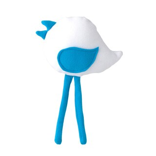Superflykids 'Petey' White/ blue Small Plush Bird Toy
