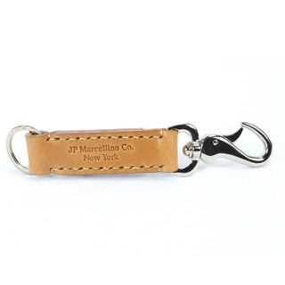 Hand-stitched Fine English Bridle Leather Hook Snap Key Holder