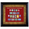 American Coin Treasures World War II Framed Stamp Collection