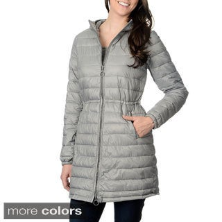 Nuage Leonardo Womens Hooded Faux Down Quilted Coat