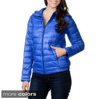 Nuage Leonardo Women's Hooded Faux Down Quilted Jacket